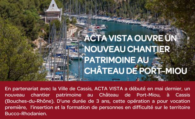 nouveau chantier pour Acta vista